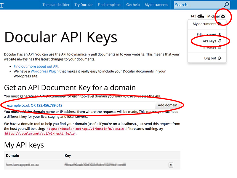 Add a domain key