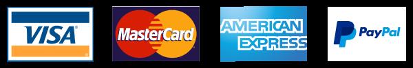 Visa | Mastercard | American Express | Paypal
