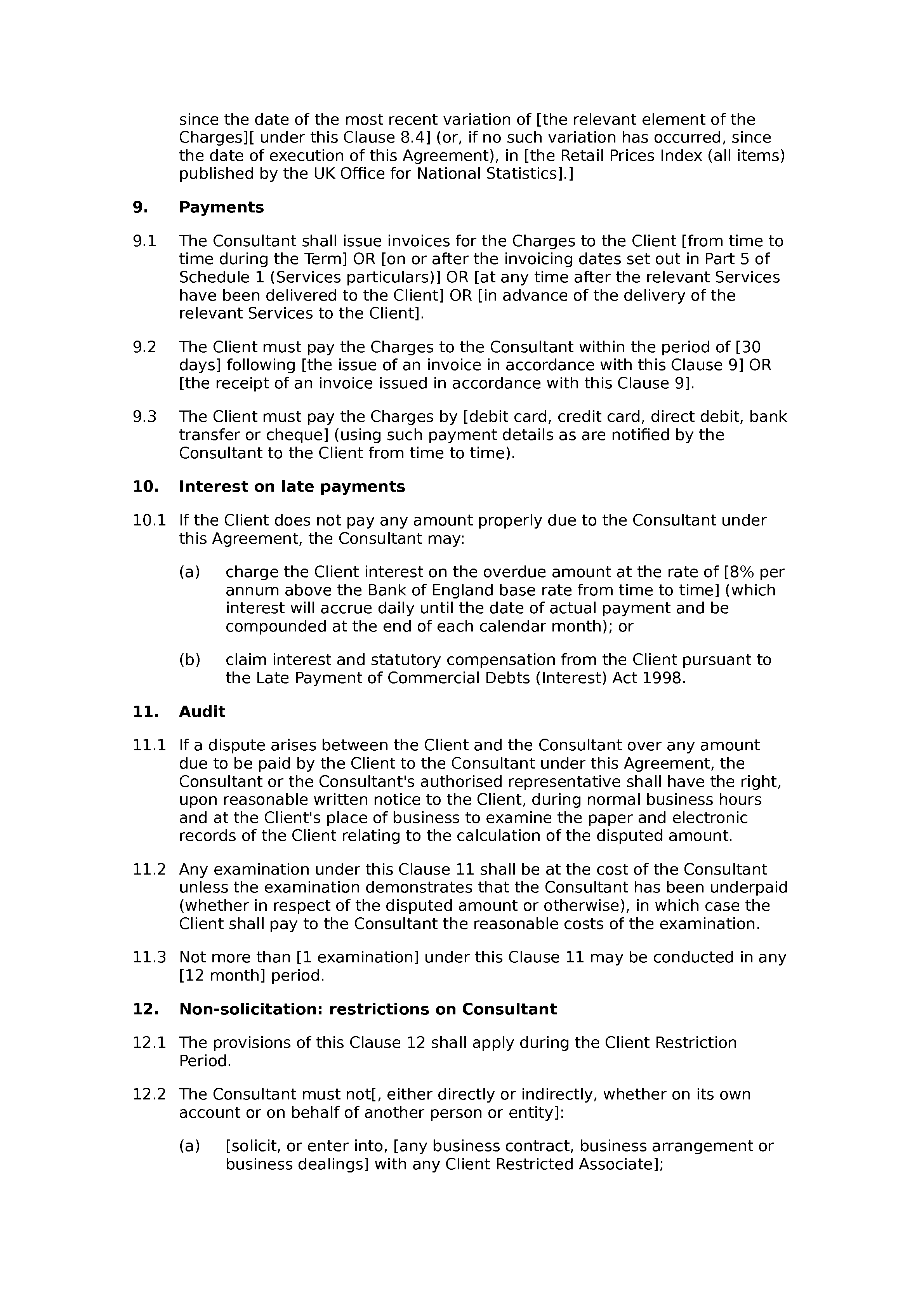 Consultancy and commission agreement document preview