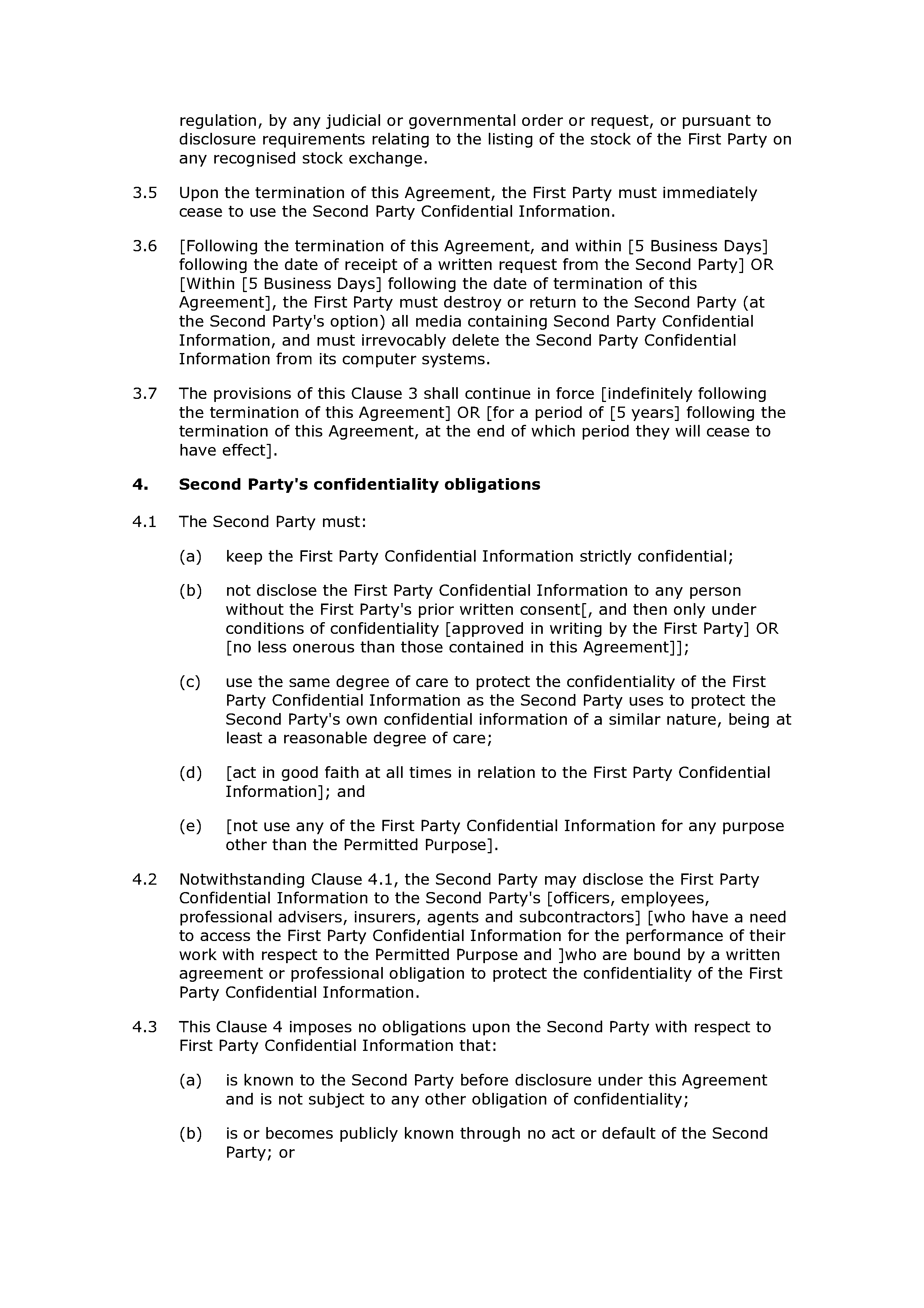 Non-disclosure agreement (mutual, standard) document preview