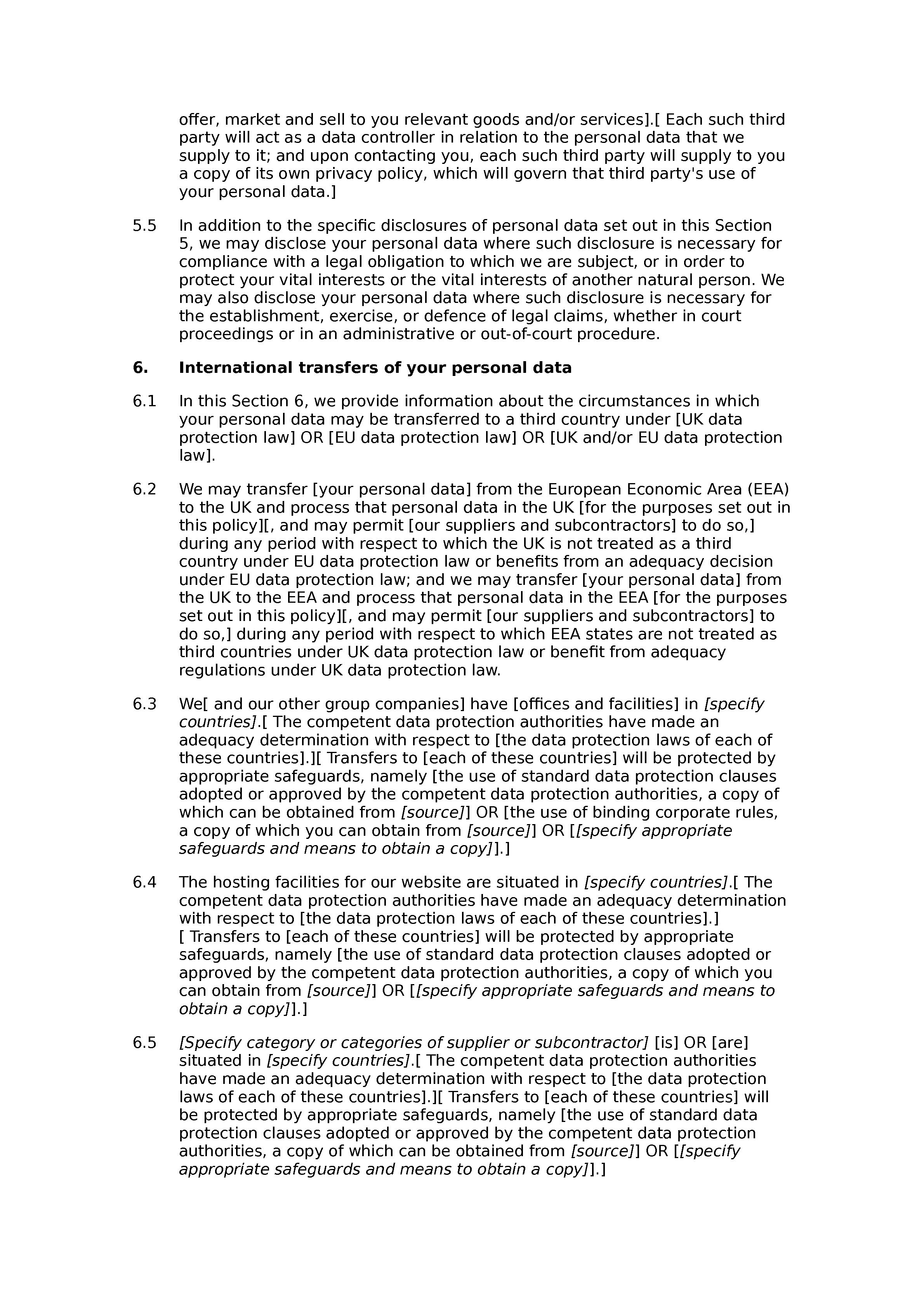 Privacy and cookies policy (lead generation) document preview