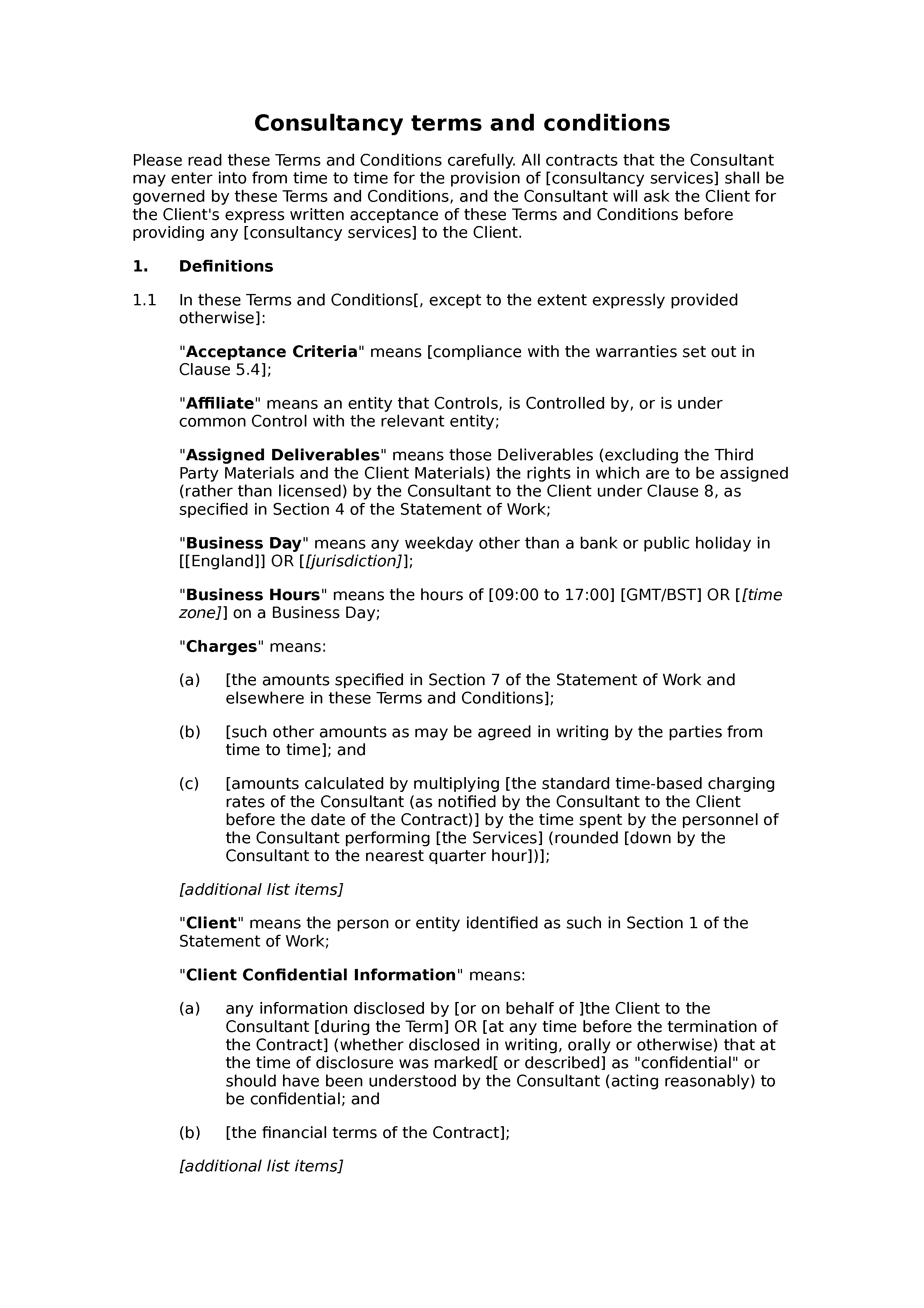 consulting terms and conditions template - consultancy terms and conditions premium docular