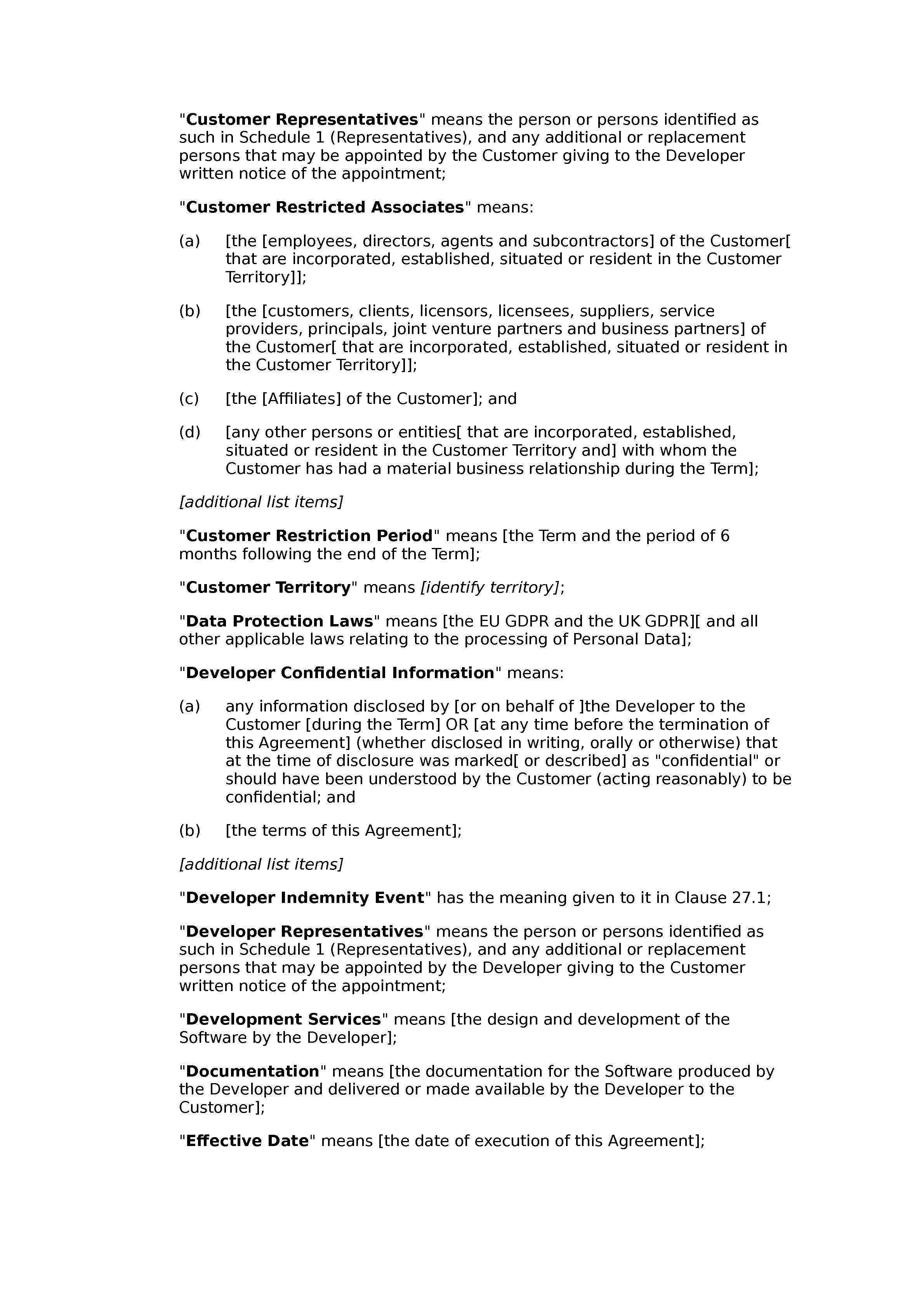 Framework software development agreement (premium) document preview