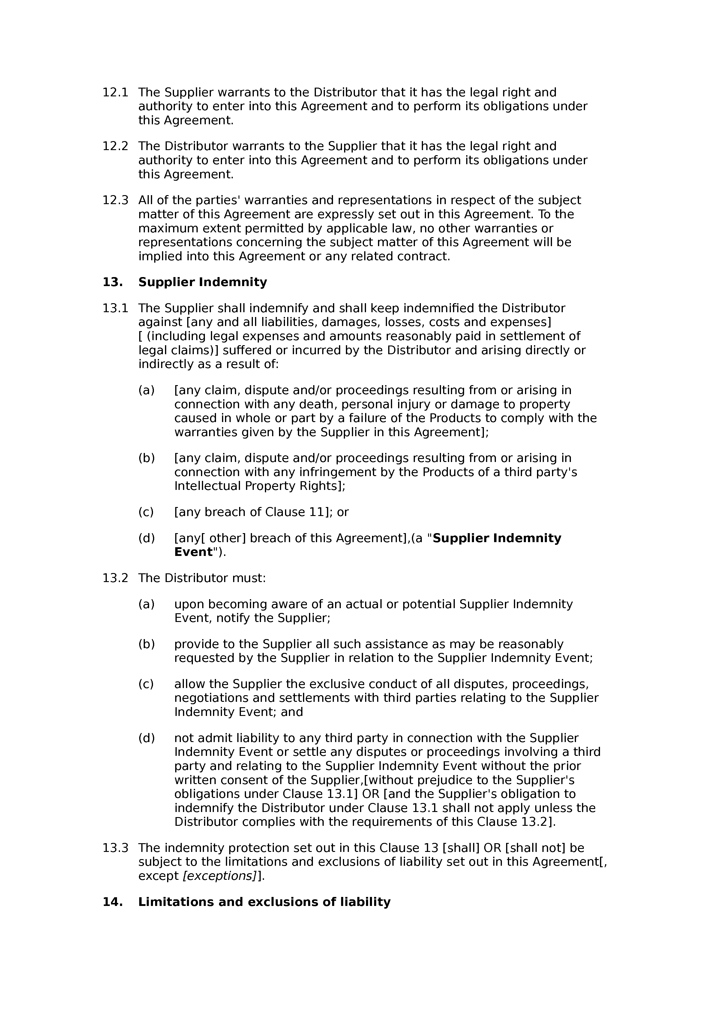 Free non-exclusive distribution agreement document preview