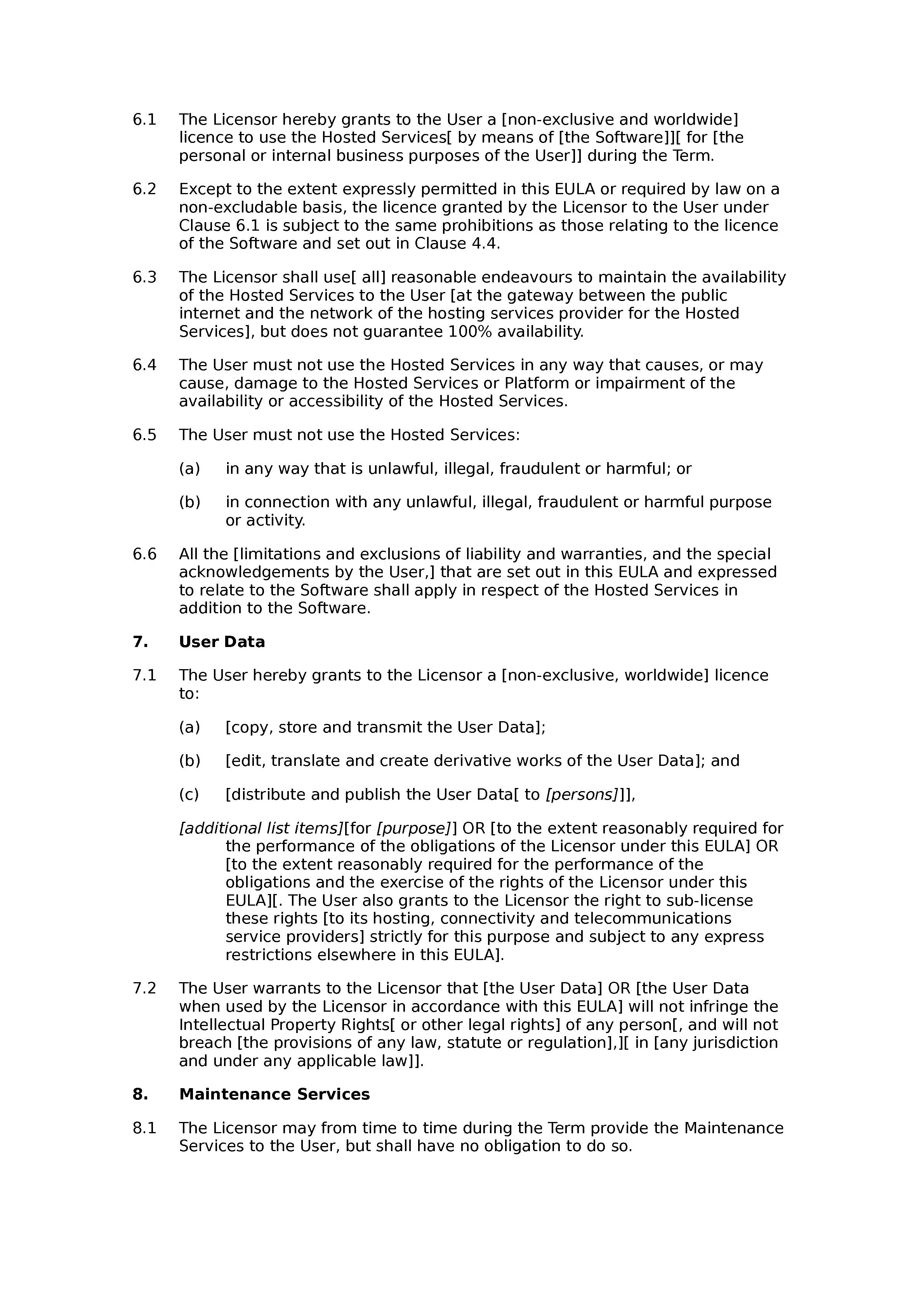 App EULA document preview
