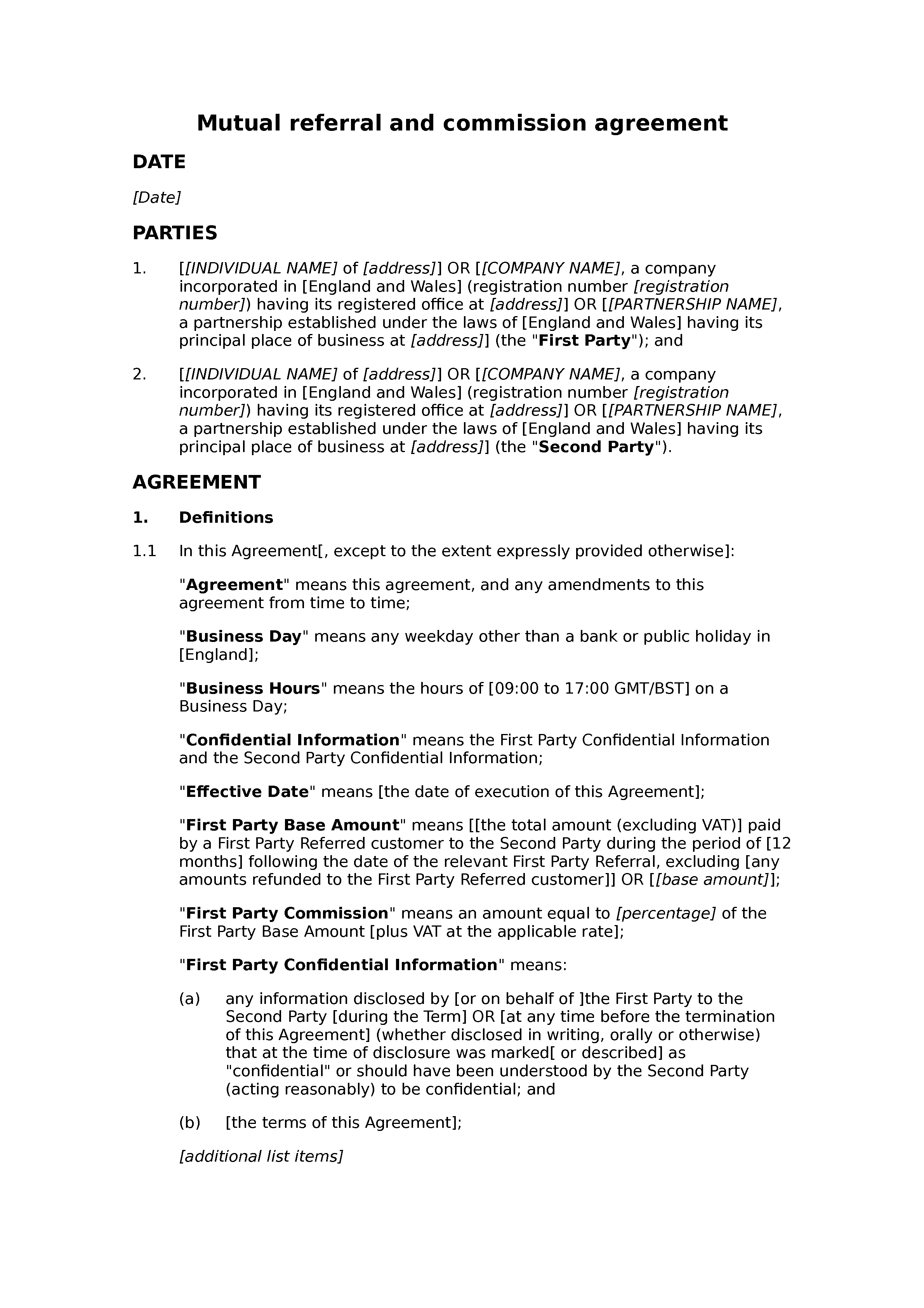 Mutual Referral And Commission Agreement Docular