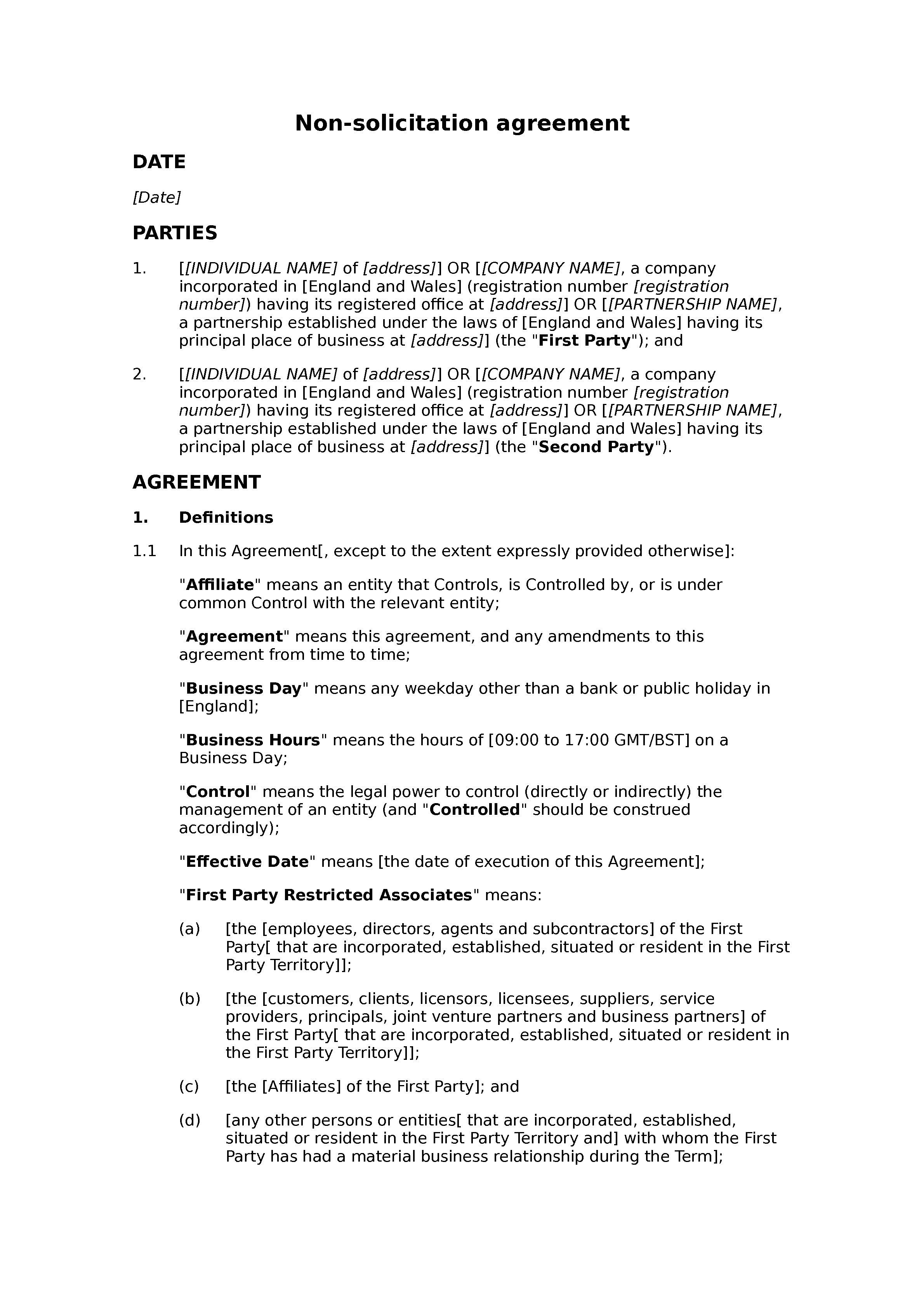 Non Solicitation Agreement Mutual Docular