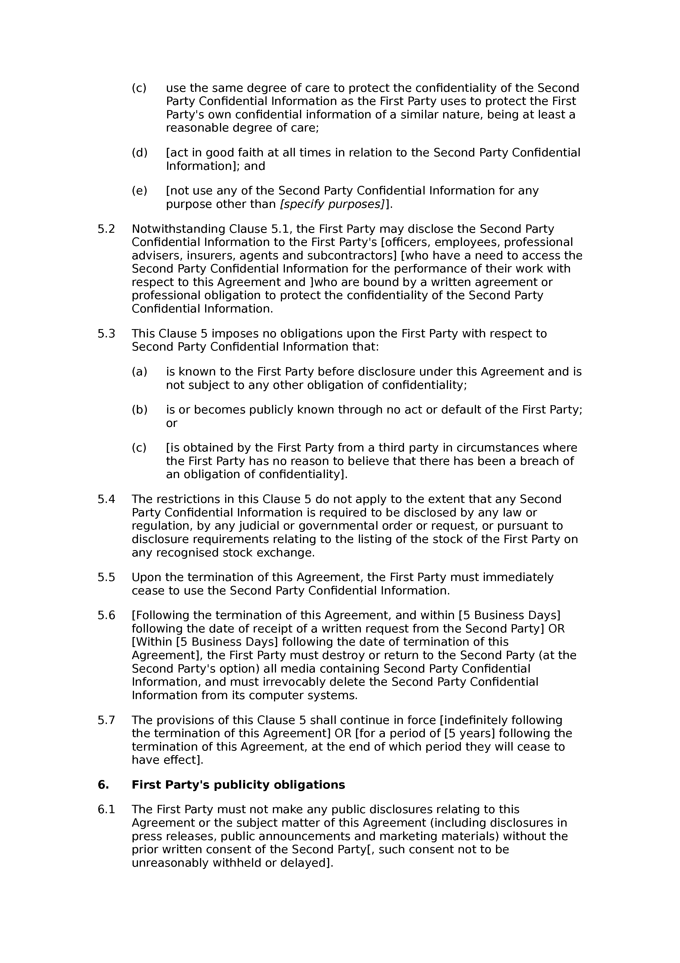 Confidentiality and non-solicitation agreement (mutual) document preview