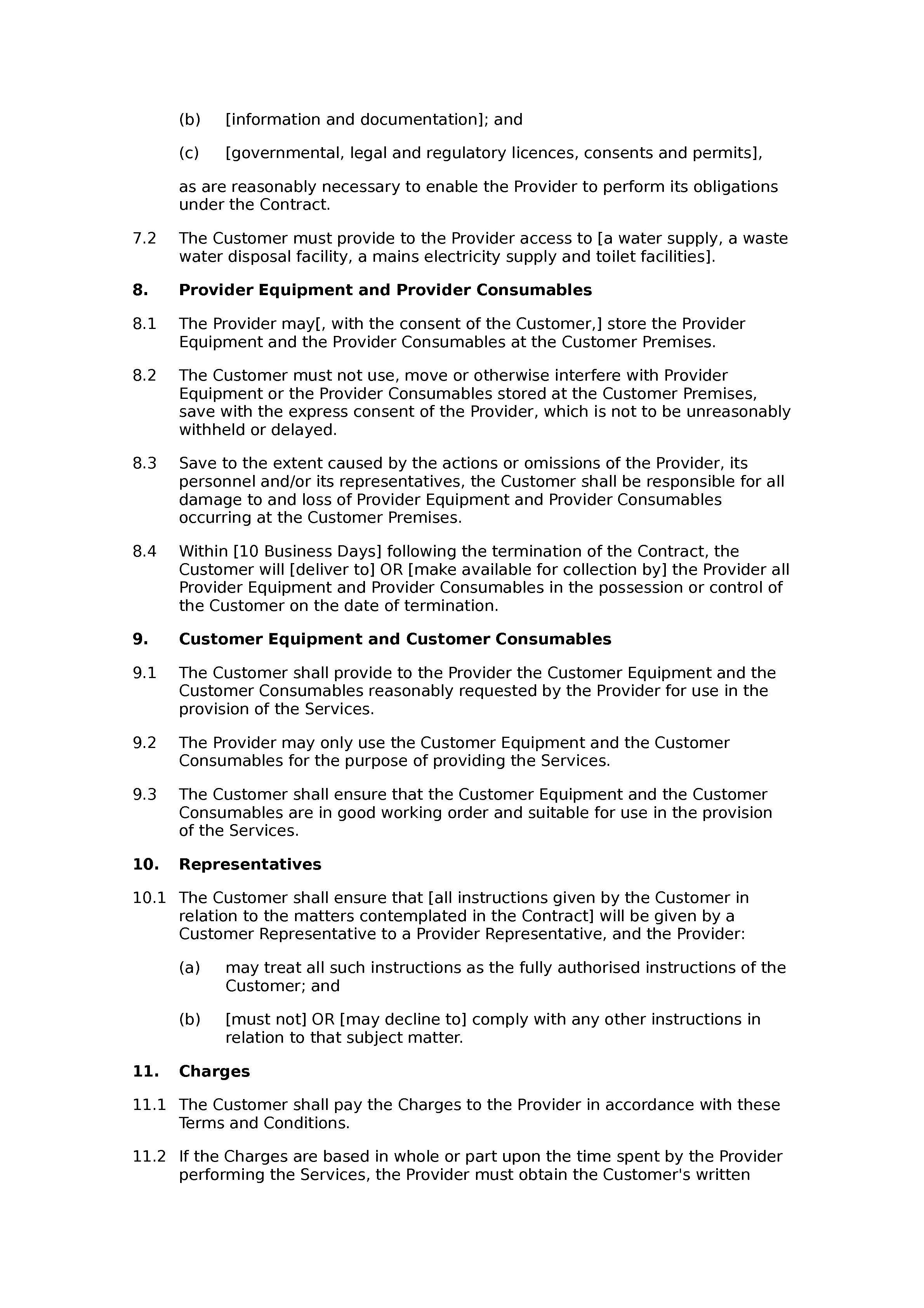 Office cleaning terms and conditions document preview