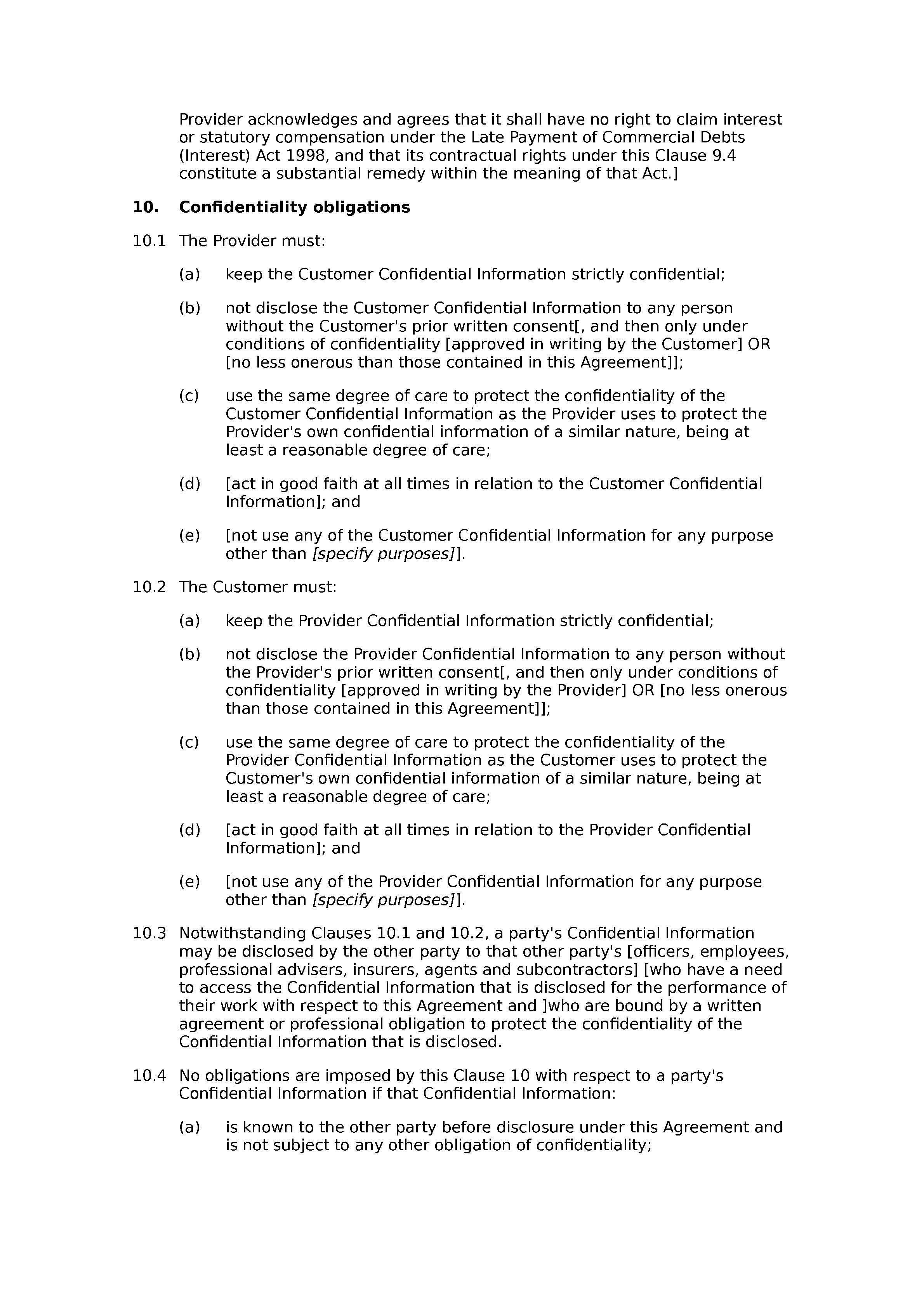 Software support and maintenance agreement (standard) document preview