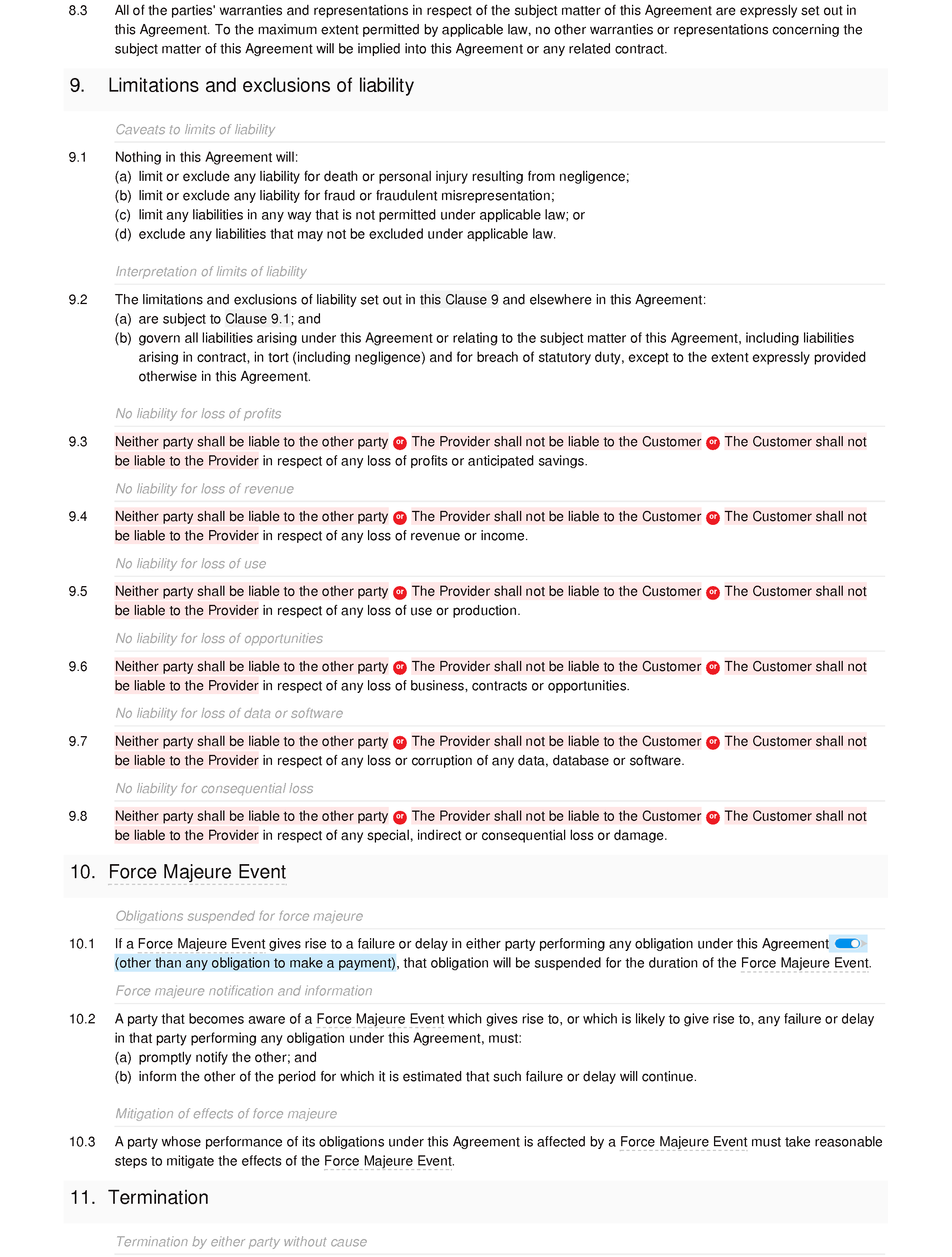Free software maintenance agreement document editor preview