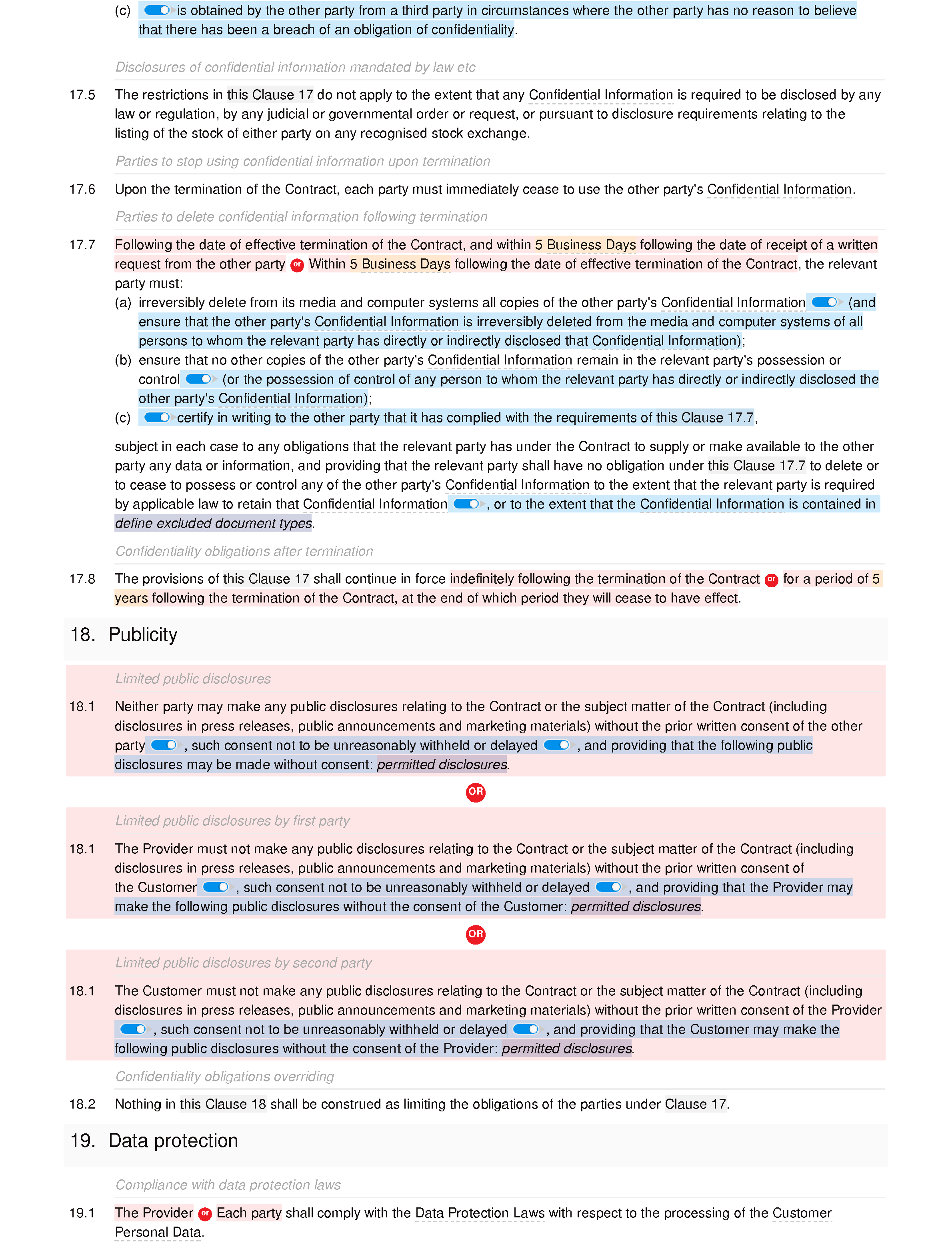 IT support terms and conditions (premium) document editor preview