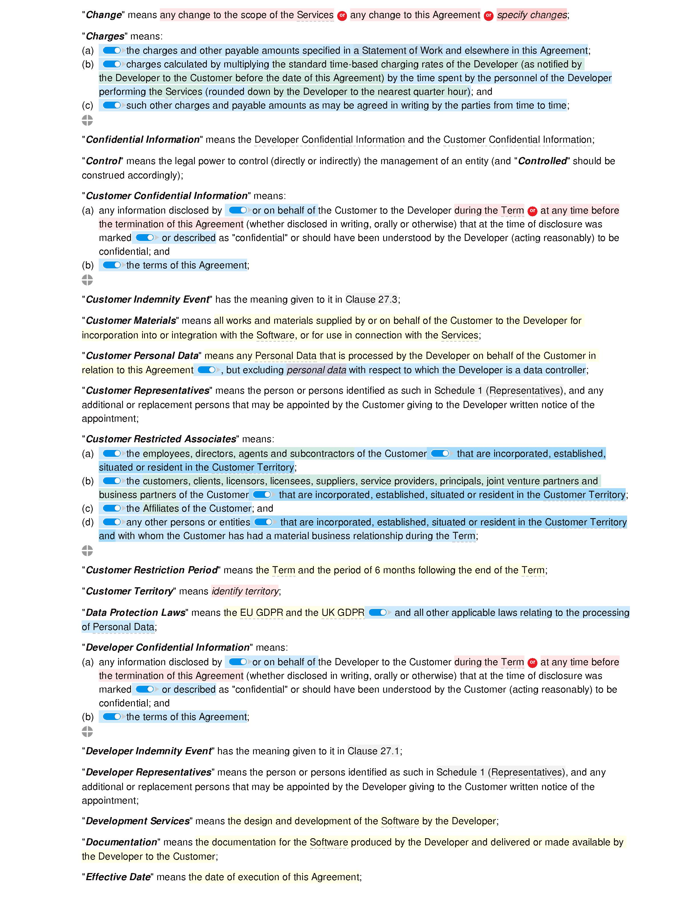 Framework software development agreement (premium) document editor preview