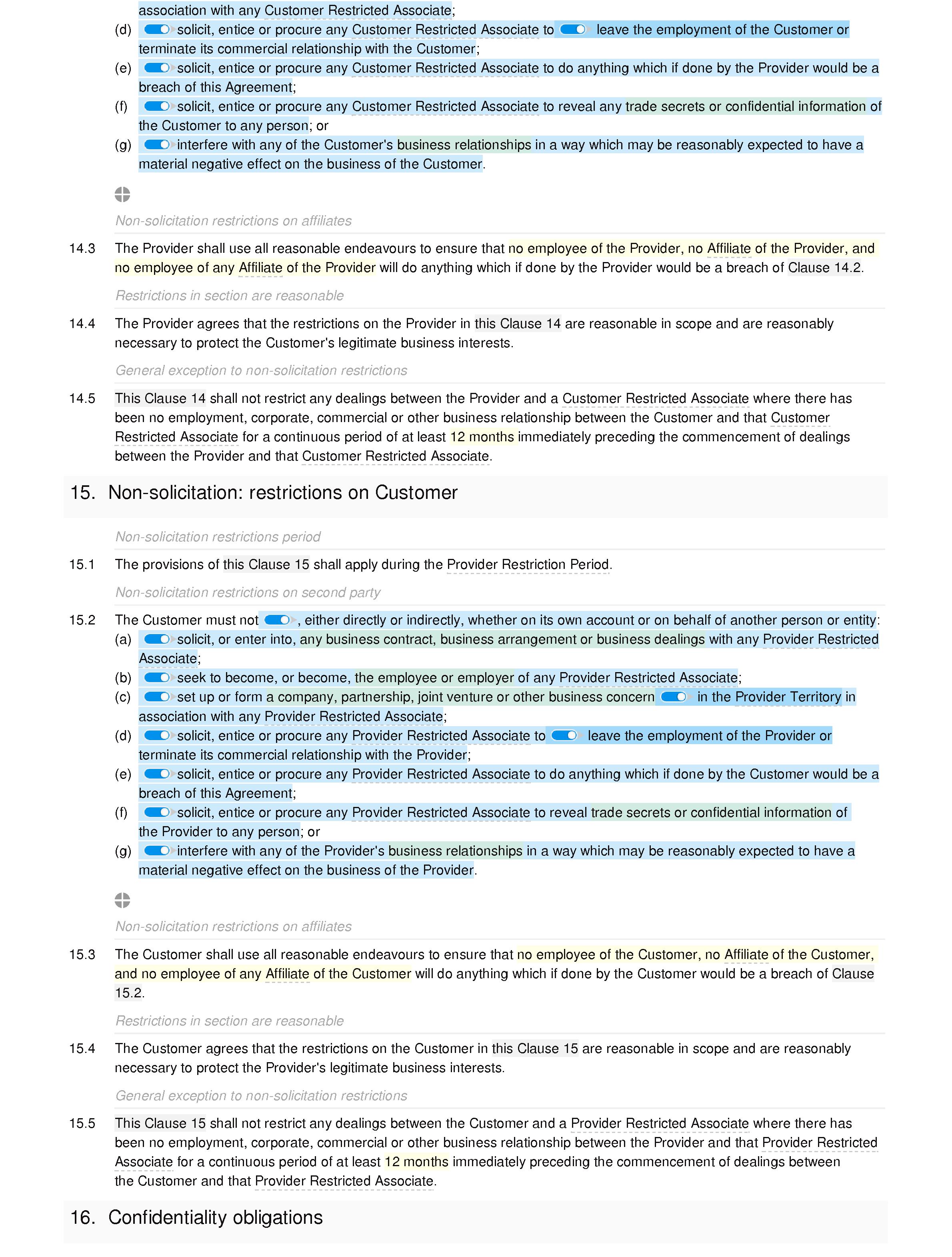 Services Agreement Premium Docular