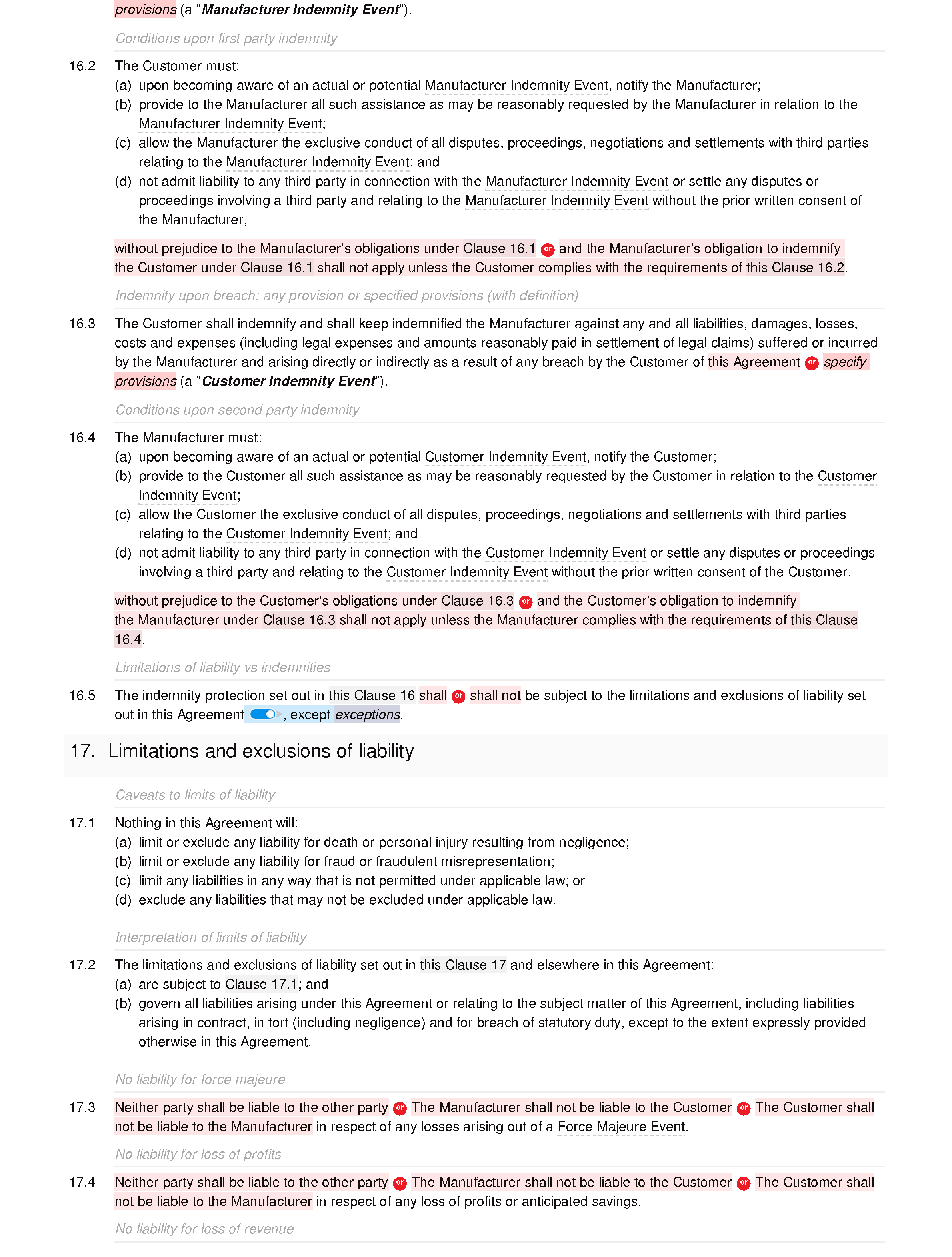 Free manufacturing agreement document editor preview
