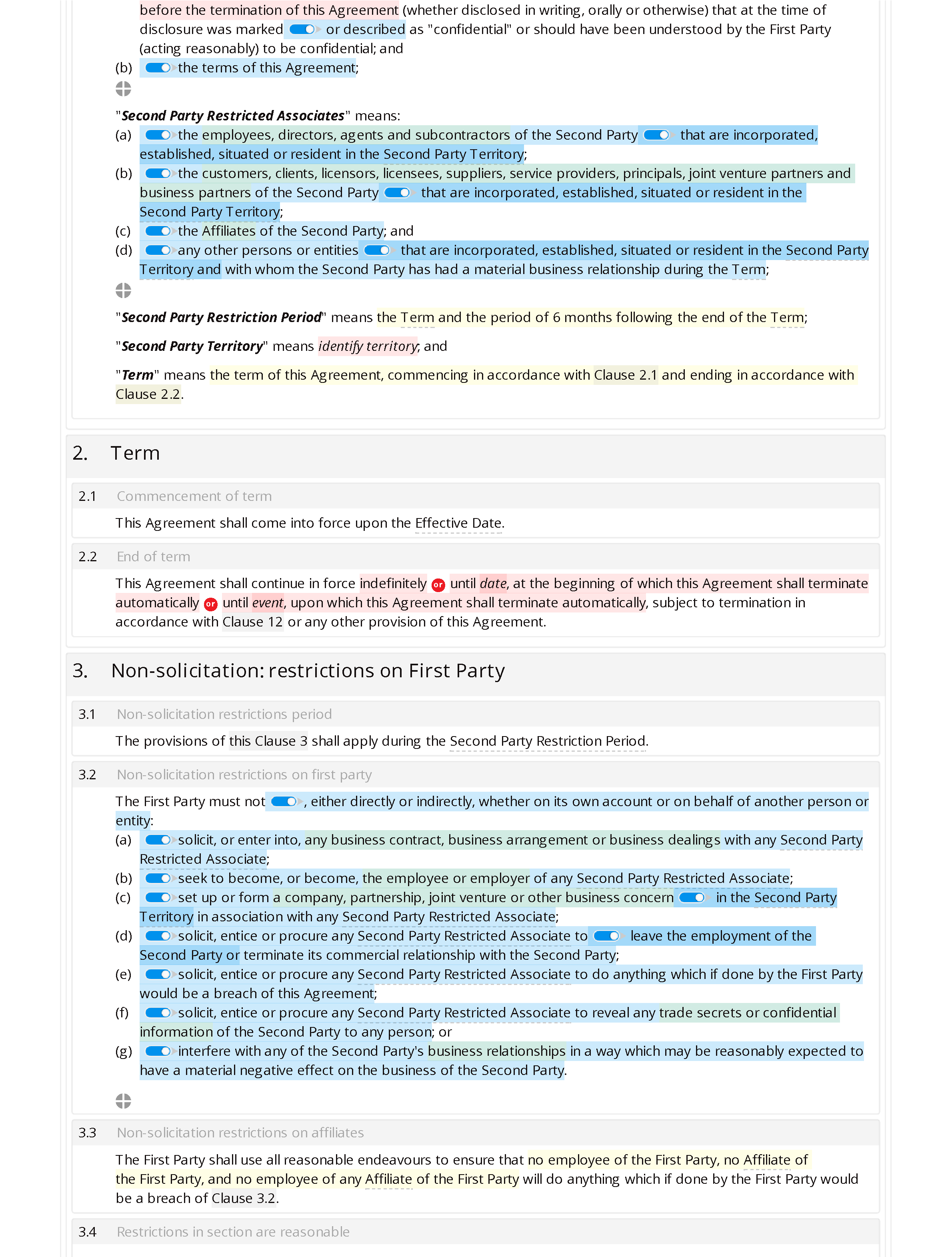 Confidentiality and non-solicitation agreement (mutual) document editor preview
