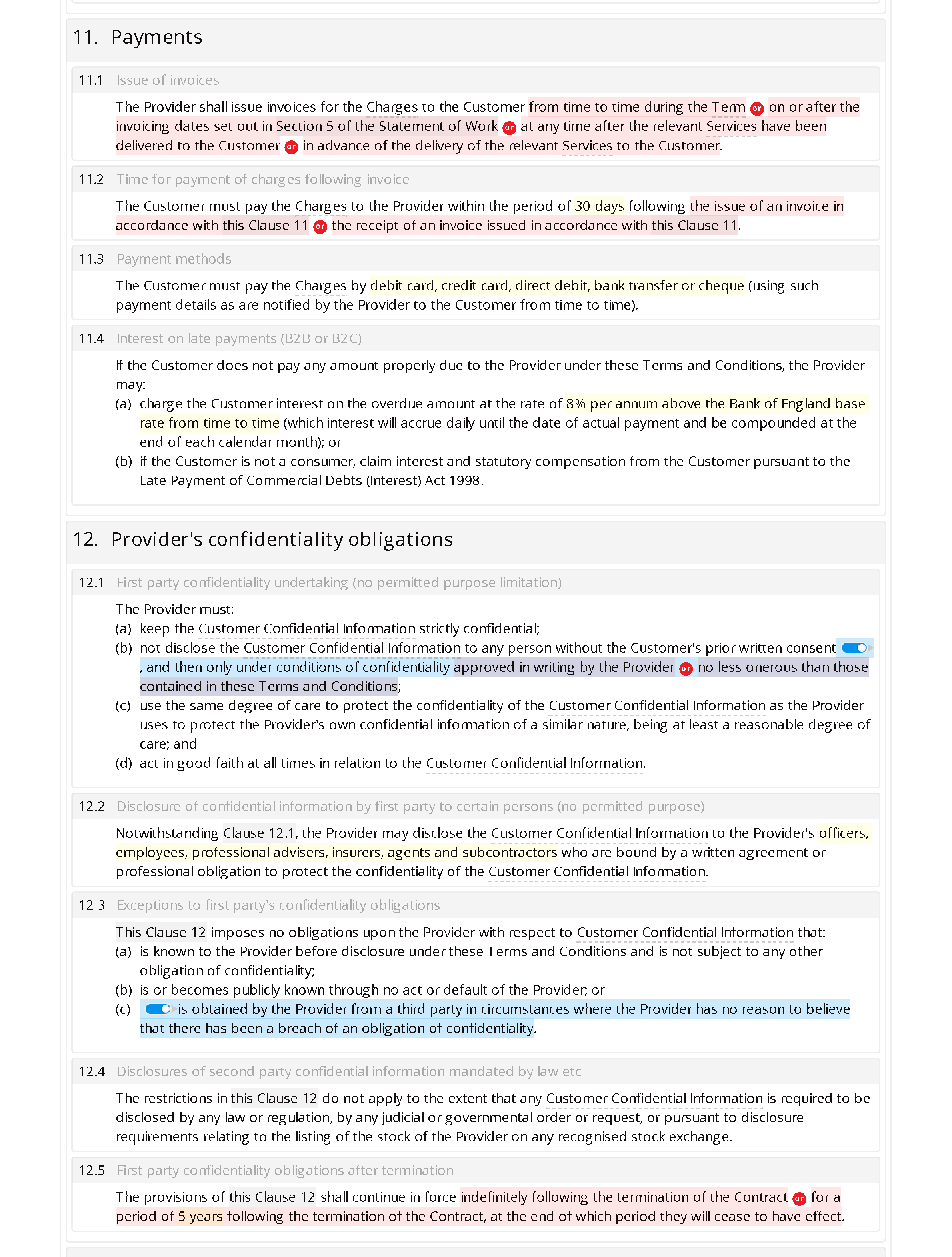 Window cleaning terms and conditions document editor preview