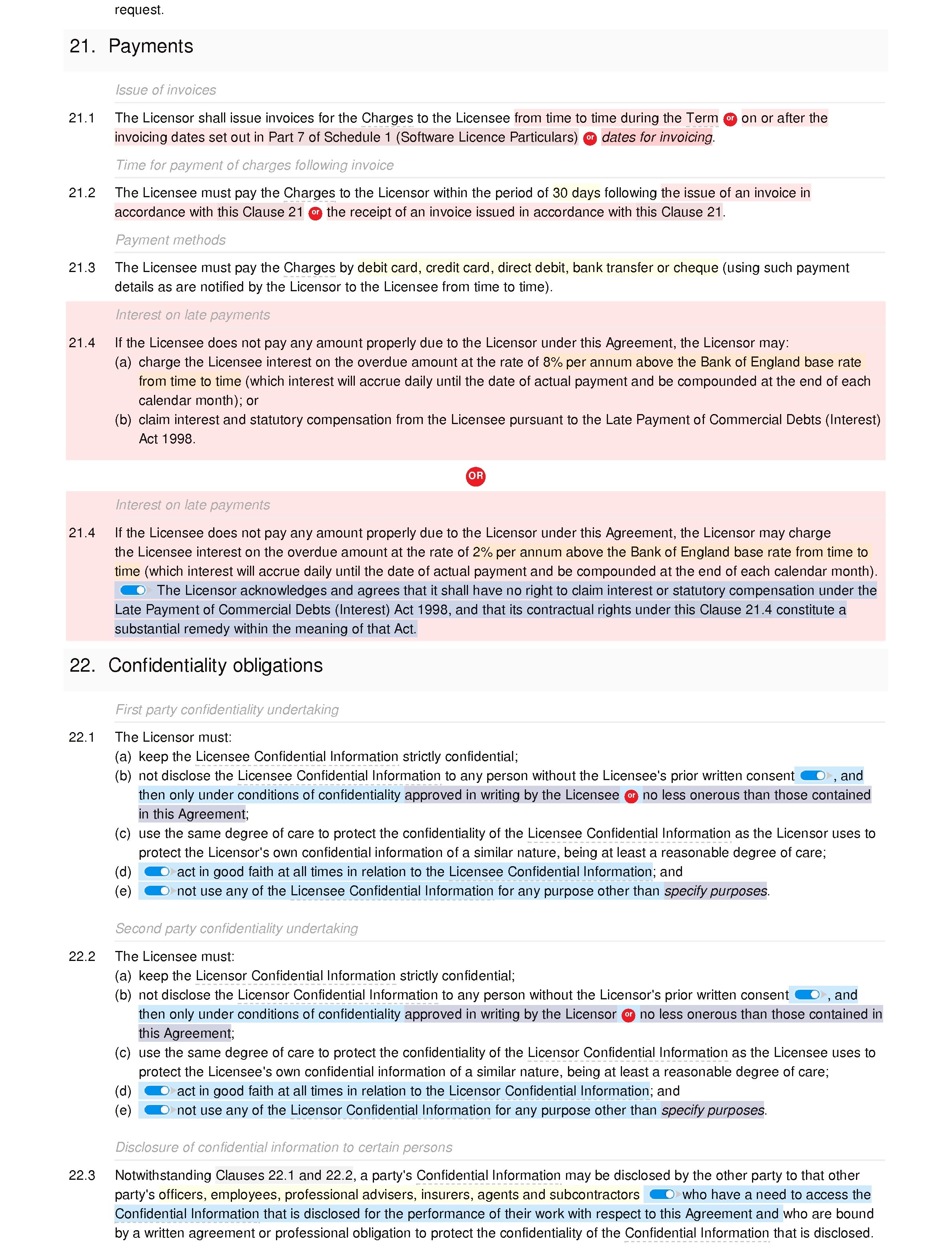 Software licence and maintenance agreement (premium) document editor preview