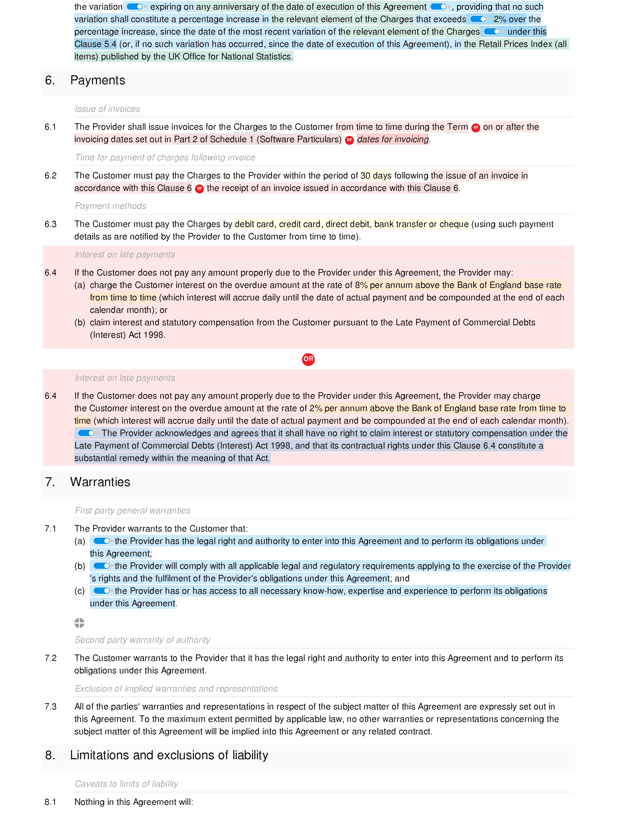 Software maintenance agreement (basic) document editor preview