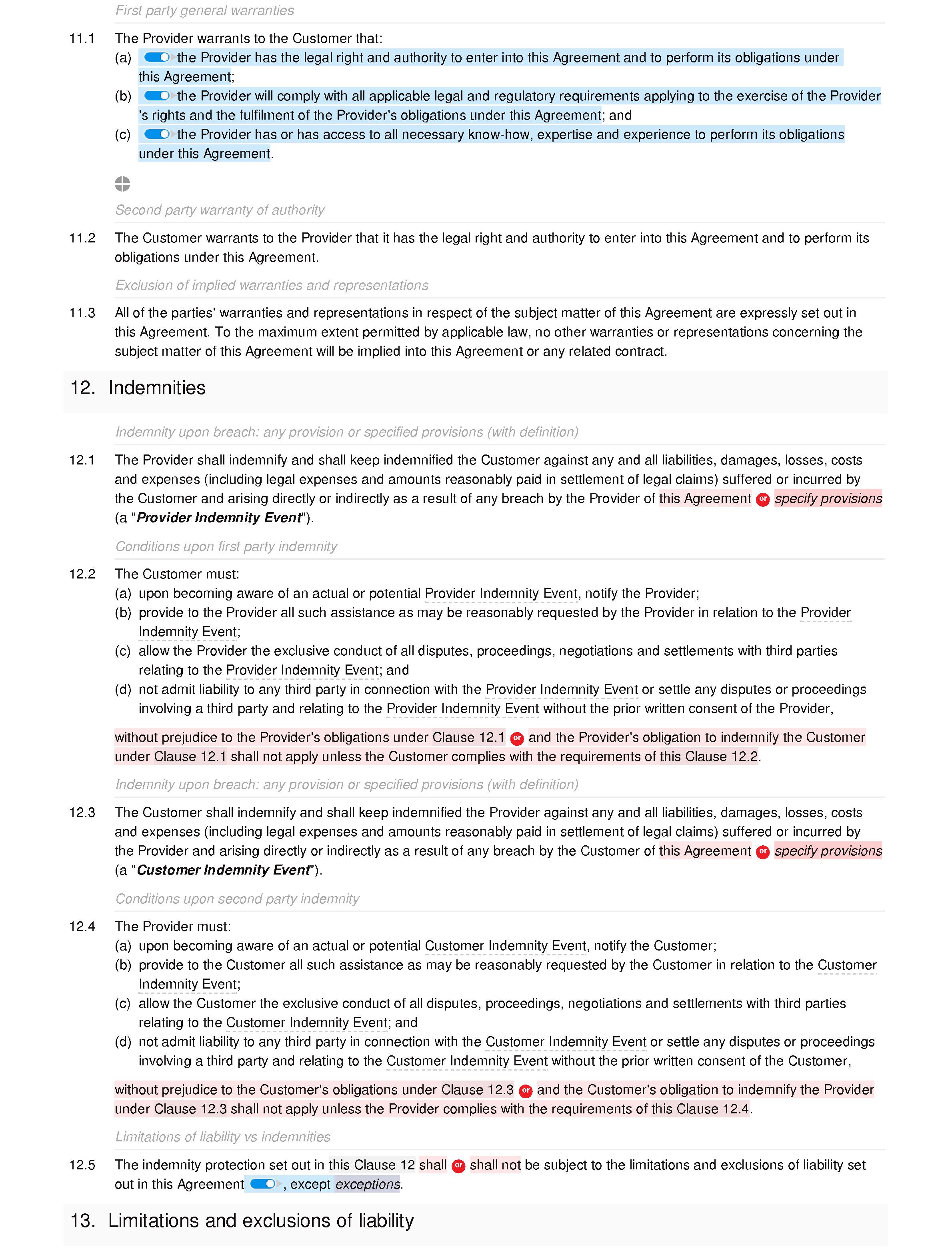 Software maintenance agreement (standard) document editor preview